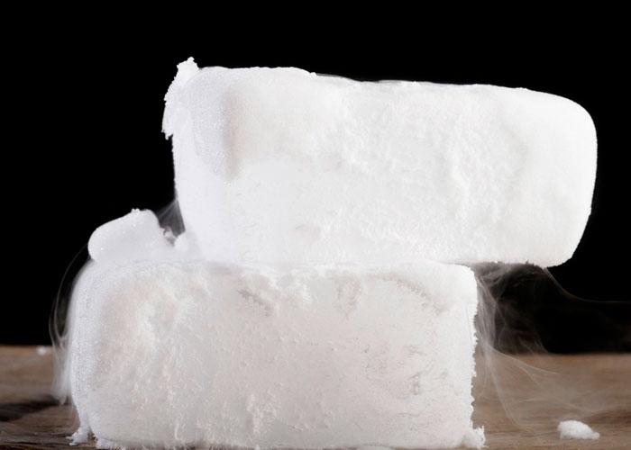 Hielo seco para el abastecimiento de las plantas de CO2